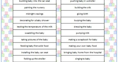 High Quality Baby Shower Charades (Free Printable) #BabyShower