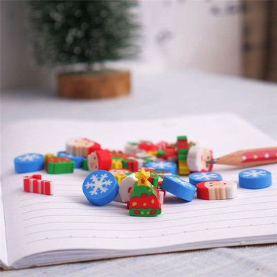 Assorted Colours Christmas Erasers. Pack of 30 Mini Xmas Santa Novelty Rubbers. £8.49