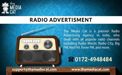 Radio Advertisement is the best medium to raise your business sales in a specific targeted area with the super hit radio channel. If you want to promote your goods & services by Ads on the Radio so contact TheMediaCat. It is an easy & affordable m...