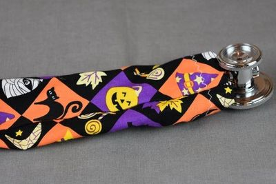Halloween Stethoscope Cover | Holiday Stethoscope Cord Cover | Nurse Gift | Doctor Gift | Stethoscope Sock | Stethoscope Accessories $10.99