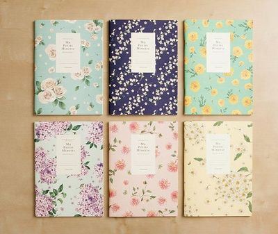 Ruled Notebook [floral pattern] / Flower Ruled Notebook / Blossom Notebook / 101002677 on Etsy, 5,15�'�