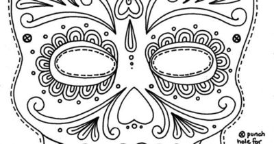 free printable sugar skull day of the dead mask free free f