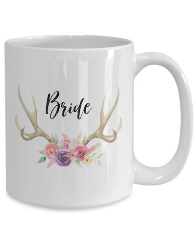 Bride White Ceramic Coffee Mug |Wedding Gift | Engagement Gift | Anniversary| Newly Weds| Couple| Bride| Groom| $18.95