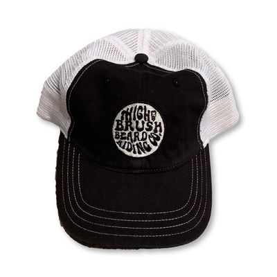 THIGHBRUSH® Beard Riding Company - Unstructured Snapback Hat - Black and White $15.00