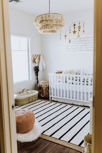 From the moment I found out I was pregnant with our third baby, no matter the gender, I wanted super clean and bohemian. I always mix vintage and Palm Beach cla