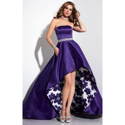 Purple Print Panoply 14795 - High-low Dress - Customize Your Prom Dress