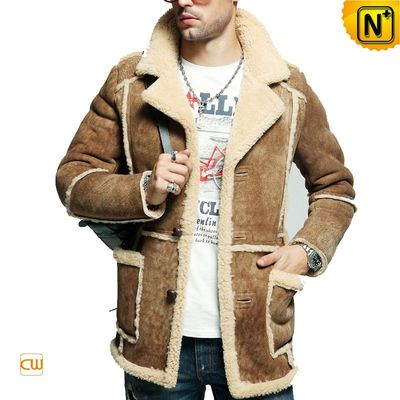 Rancher Style Sheepskin Coat for Men CW878127 / Shearling Coats ...