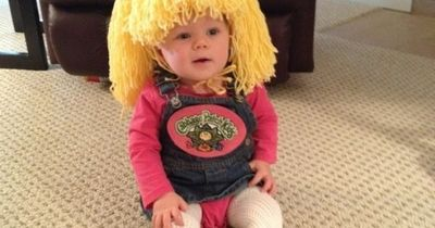Laura: My 10 month old daughter, Elise, is my real live Cabbage Patch kid! Growing up, I was obsessed with stuffed animals and dolls and always wished they were
