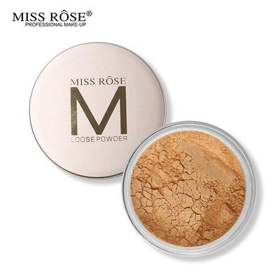 MISS ROSE Makeup Face Finishing Setting Powder Smooth Oil-control Minerals Loose Powder Palette With Puff $14.49