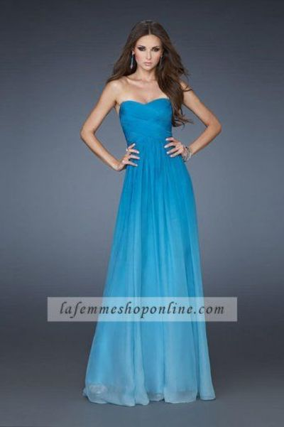 Fashion Chiffon Turquoise Strapless Homecoming Dresses Affordable
