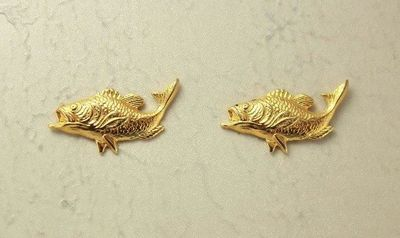 14 Karat Gold Plated Fish Magnetic Clip Non Pierced Earrings $25.00 Designed by LauraWilson.com