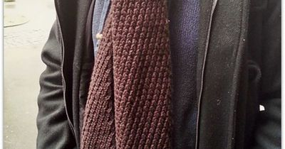 ea0d54f6c47cb Free Pattern: Extra Warm Men's Scarf by Kyoko Nakayoshi / knits and ...