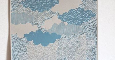 A limited edition screen print of rain clouds, inspired by the Scottish weather! The print is hand screen printed by me in an edition of 100 on