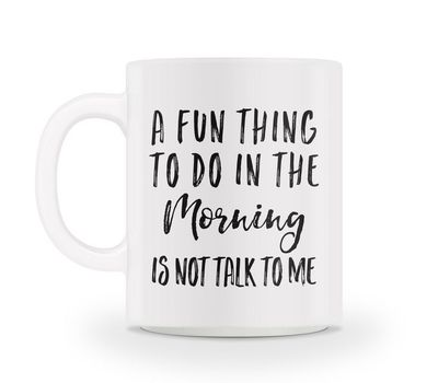 Perfect! I HATE talking to anyone in the morning before I've had my coffee. I need at least an hour before any talking happens.