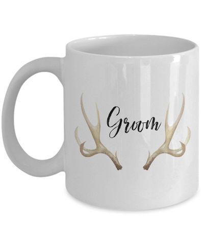 Groom White Ceramic Coffee Mug |Wedding Gift | Engagement Gift | Anniversary| Newly Weds| Couple| Bride| Groom| $18.95