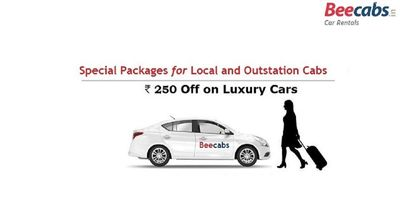Book a Cab for your travel experience with our Beecabs Car Rental, it has never been more safe. Special Packages on Local and Outstation Trip. Now you can also avail 250 OFF on Luxury and Premium Car Rentals.