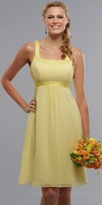 Yellow Bridesmaid Dresses with Jackets