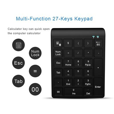 BT027 27 Keys bluetooth Wireless Mini Numeric keyboard For Laptops Desktop Computers