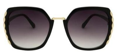 Add ahint of glamour to your look with ourcutout plastic sunglasses