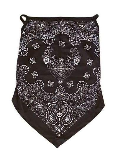 THIGHBRUSH® - Gaiter Style Face Mask with Ear Loops - Black and White - $15.00 Each!