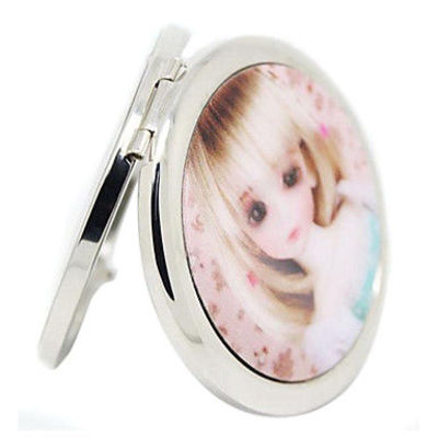1PCS 3D Barbie Doll Compact Make Up Mirrors Random Send