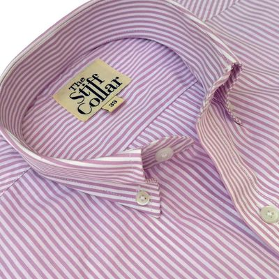 Lavender Pencil Stripes Regular Fit Button Down Shirt �'�1699.00