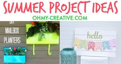 Find Great DIY Outdoor Summer Project Ideas including flower planters, welcome signs and painted furniture! Be inspired to create a outdoor summer project!