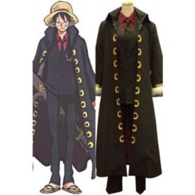 One Piece Strong World Luffy Uniform Cloth Cosplay Costume