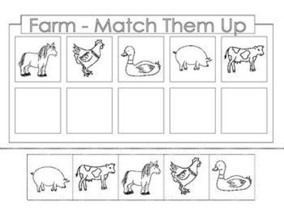 FREE........Farm Theme. There Are 4 Worksheets. Each Page Is... / Preschool  Items - Juxtapost