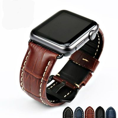 Genuine leather watch strap for Apple 42mm 38mm series 4-1 44mm 40mm $40.99