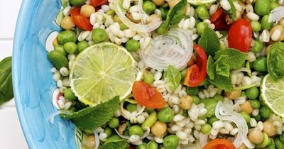 A fresh Spring salad like this Barley Salad with Chickpeas, Fava Beans & Peas is an incredibly healthy and light dish.