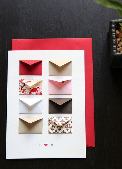 absolutely adorable tiny envelopes with messages and/or conf... / Papercraft - Juxtapost