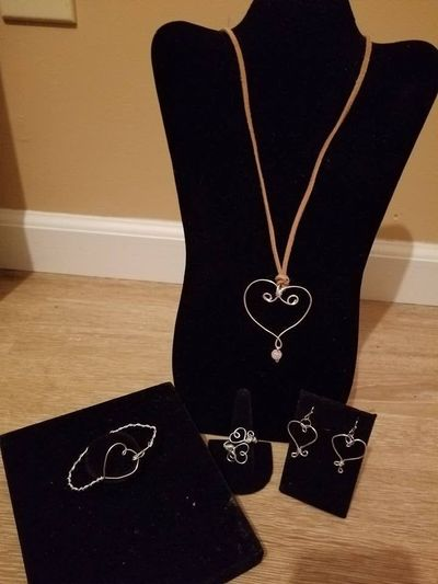 Wire Wrapped Hearts Collection Style #2 $25.00