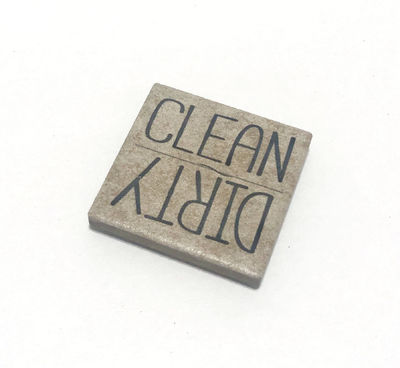 Clean Dirty Dishwasher Magnet, Stone $8.00