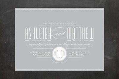 REVEL: Grey Invitations