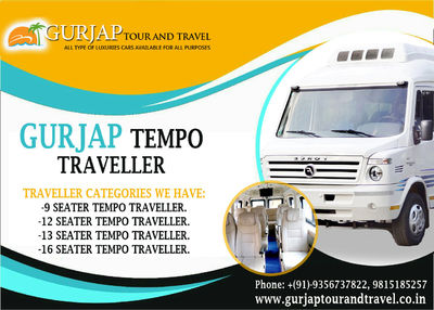 We believe in providing a comfort and quality service to our customers, we can provide you luxury and comfortable Tempo Traveller service in Chandigarh 9815185257/ go to our website: http://www.gurjaptourandtravel.co.in/tempo-traveller-service-in-chandiga...