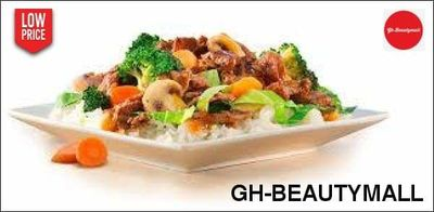 Plain rice with vegetable stew GHS95.00