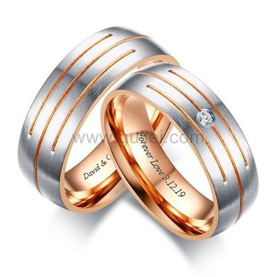 Gullei.com Matching Relationship Rings Gift for Couples