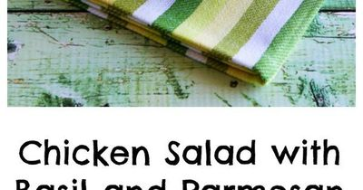 Low-Carb Chicken Salad with Basil and Parmesan; gluten-free, South ...