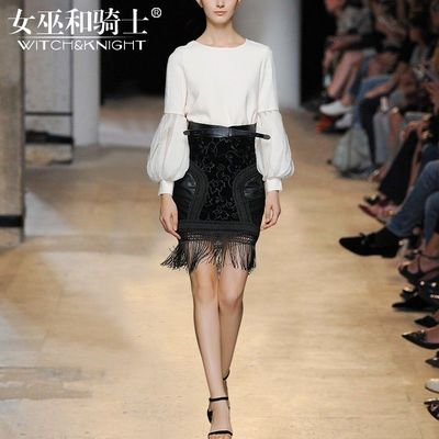 Vogue Attractive Slimming Chiffon 9/10 Sleeves Outfit Essential Skirt - Bonny YZOZO Boutique Store