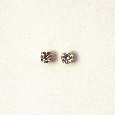 Men's Magnetic 3, 4, and 4.5 MM Round Setting Swarovsky Crystal Earrings & Extra Magnets $26.00 Designed by LauraWilson.com