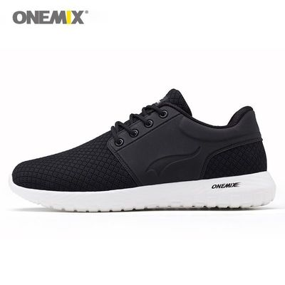 Onemix running shoes for men breathable mesh women sports sneaker lightweight lace-up $52.14