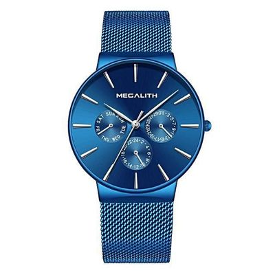 MONOLITH brushed stainless steel mesh quartz men's watch $56.99