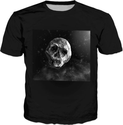 ROTS Skull Faced Asteroid Men's T-Shirt $25.00