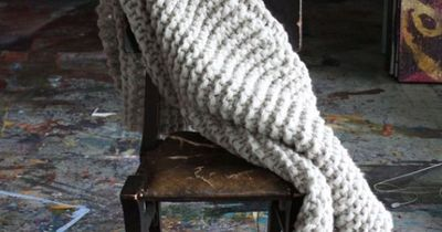 """Chunky Knit Wool Blanket or Throw - The """"Atmosphaera"""" love this chunky knit - would love it on my bed as a throw."""