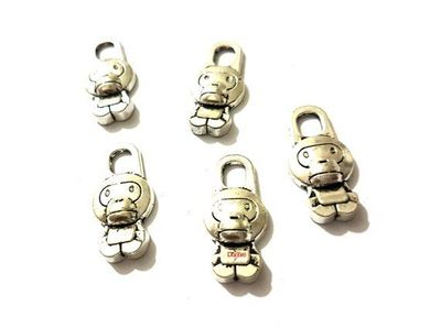 8 Pieces of Silver Monkey Charms. 14mm x 29mm Antique Look Pendants. Create Unique Handmade Jewellery. Jungle Animal and Halloween Theme. £3.89