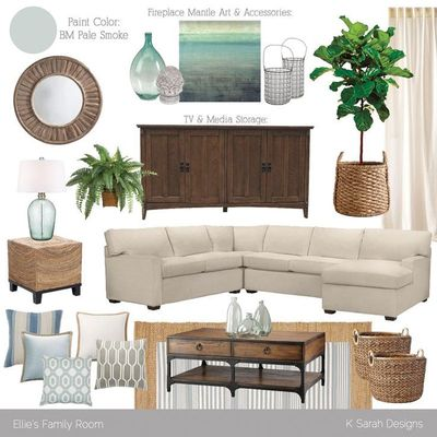 Today I thought I'd share a Master Bedroom design scheme I completed a bit ago. This client is very drawn to coastal spaces... you may remember her family room