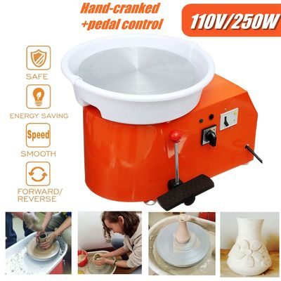 250W 110V Electric Pottery Wheel Removable Machine Ceramic Work Clay Art Craft