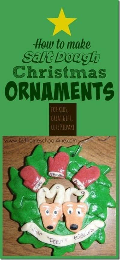 How To Make Your Own Salt Dough Ornaments Includes A No