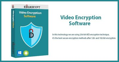 Video Encryption Software is a new type of technology that can easily encrypt your video. In this technology we are using 256-bit AES encryption technique, it's the best secure encryption methods after 128- and 192-bit encryption.